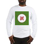 Christmas Wrap Monogram Long Sleeve T-Shirt