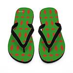 Christmas Wrap Monogram Flip Flops
