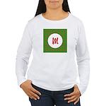 Christmas Wrap Monogram Women's Long Sleeve T-Shir