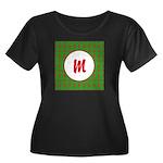 Christmas Wrap Monogram Women's Plus Size Scoop Ne