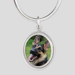 Maddi Silver Oval Necklace