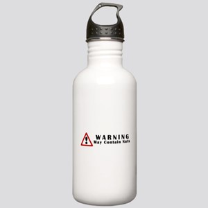 WARNING: May Contain Nuts! Stainless Water Bottle