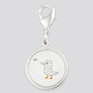 Mosquito-Proof Silver Round Charm