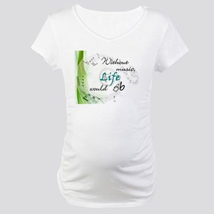 Without Music, Life Would Bb-by soda Maternity T-S