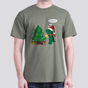 T-Rex hates Christmas Dark T-Shirt