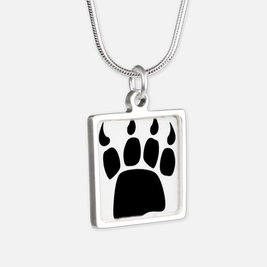 Bear Paw Silver Square Necklace Necklaces