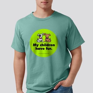 fur_dogs_round Mens Comfort Colors Shirt