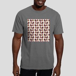 Black and Fawn Christmas Mens Comfort Colors Shirt