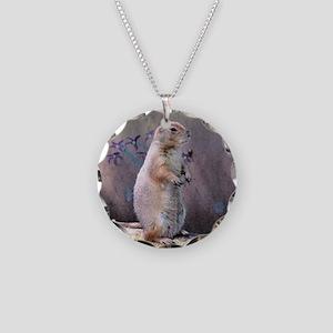 Prairie Dog Necklace Circle Charm