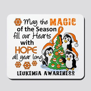 Holiday Penguins Leukemia Mousepad
