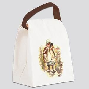 Two Pups Canvas Lunch Bag