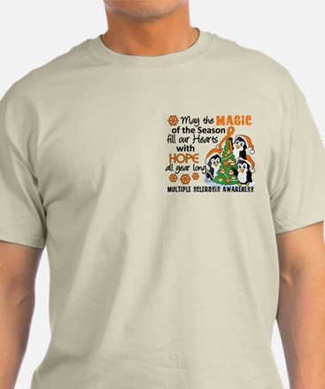 Holiday Penguins MS T-Shirt