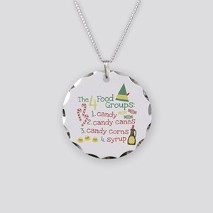 The 4 Food Groups Necklace Circle Charm