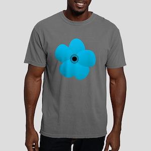 Cute Blue Flower Mens Comfort Colors Shirt
