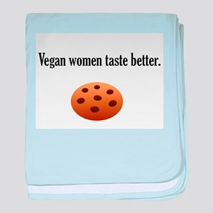 Vegan women taste better baby blanket