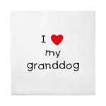 I Love My Granddog Queen Duvet