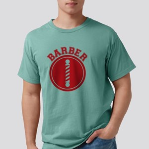 Barber Pole Stencil Mens Comfort Colors Shirt
