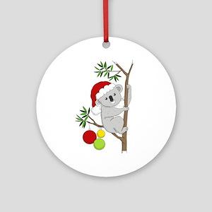 Australian Christmas Koala Ornament (Round)
