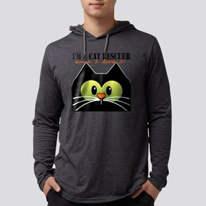 Im a cat rescuer and I love it n Mens Hooded Shirt