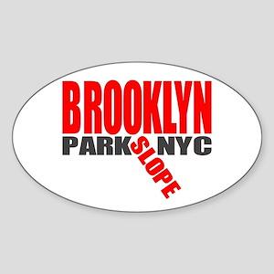 Park Slope BROOKLYN Oval Sticker