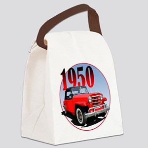 1950 Redjeepster Canvas Lunch Bag