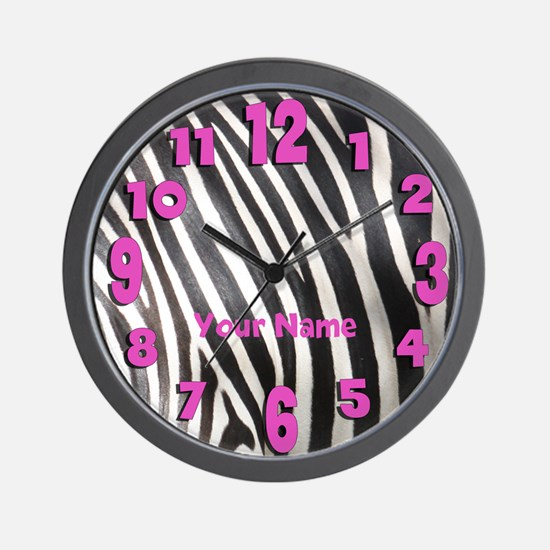 Personalized Zebra Stripe Wall Clock