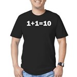 Binary Equation Joke 1 +1 = 10 Men's Fitted T-Shir