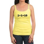 Binary Equation Joke 1 +1 = 10 Jr. Spaghetti Tank