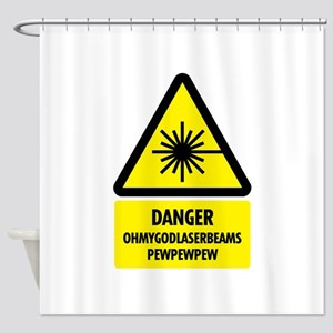 laserbeams1 Shower Curtain
