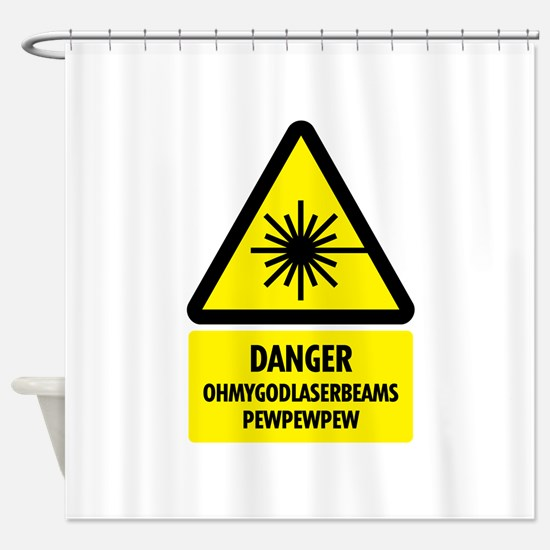 laserbeams1.png Shower Curtain