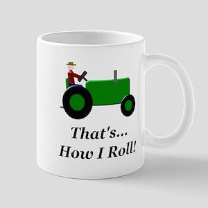 Green Tractor How I Roll Mug