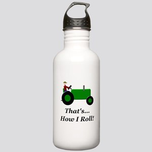 Green Tractor How I Roll Stainless Water Bottle 1.