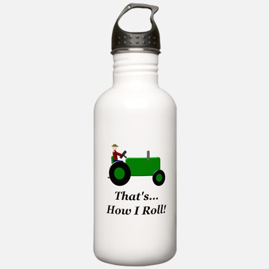 Green Tractor How I Roll Water Bottle