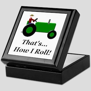 Green Tractor How I Roll Keepsake Box