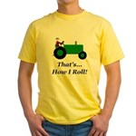 Green Tractor How I Roll Yellow T-Shirt