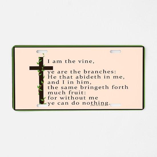John 15 5 King James Bible Verse Aluminum License
