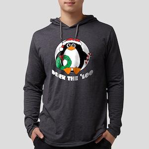 3-penguin-xmas-shirt-black Mens Hooded Shirt