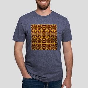 Tiki Shield Window Curtain Mens Tri-blend T-Shirt