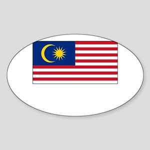 Malaysia Flag Picture Oval Sticker
