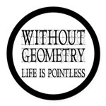 Without Geometry Life Is Pointless Round Car Magne