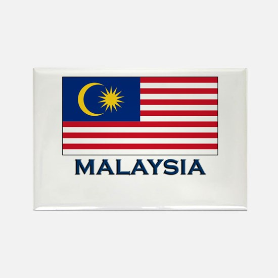 Malaysia Flag Gear Rectangle Magnet
