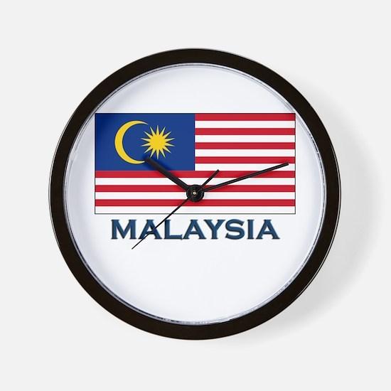 Malaysia Flag Gear Wall Clock