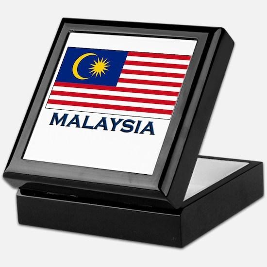 Malaysia Flag Gear Keepsake Box