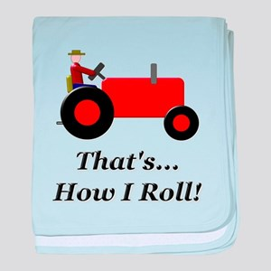 Red Tractor How I Roll baby blanket