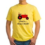 Red Tractor How I Roll Yellow T-Shirt