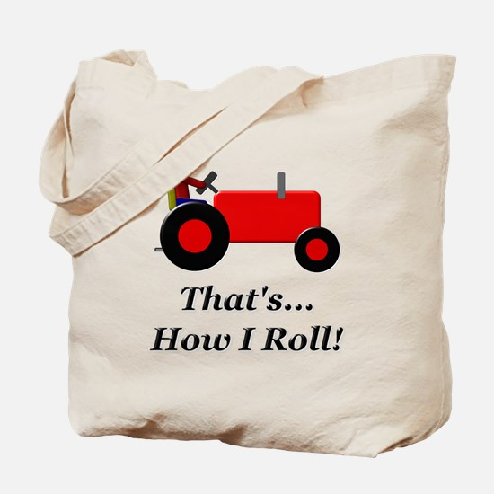 Red Tractor How I Roll Tote Bag