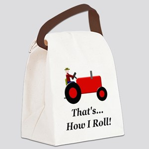 Red Tractor How I Roll Canvas Lunch Bag
