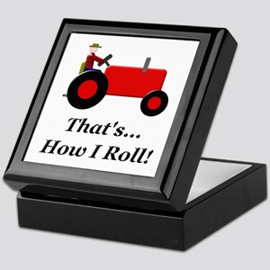 Red Tractor How I Roll Keepsake Box