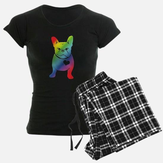 French Bulldog Love Cartoon RAINBOW Pajamas