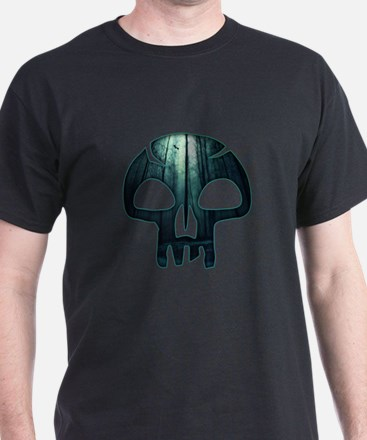 Magic the Gathering Swamp Skull T-Shirt